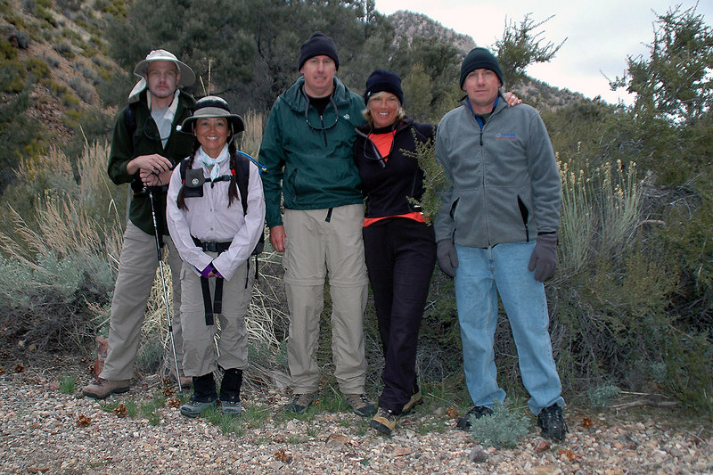 Jay, Cori, John, Sooz and me. The group is ready to climb Wahguyhe Peak.  I was planing on joining them, but decided to get a early start on the drive home.
