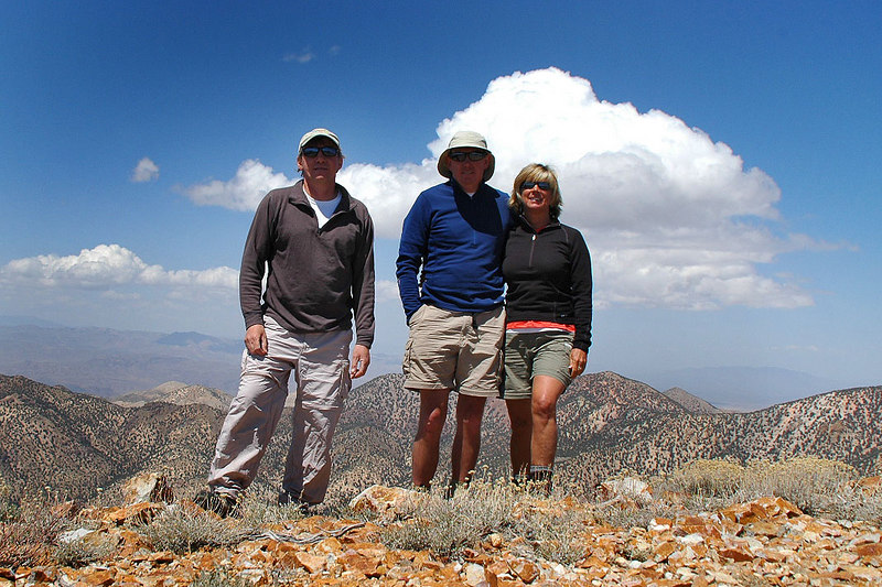Joe (me) , John and Sooz on Grapevine Peak 8,738'.