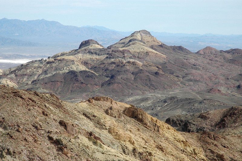 Zoomed in on Sheephead Mountain in the Ibex Hills.