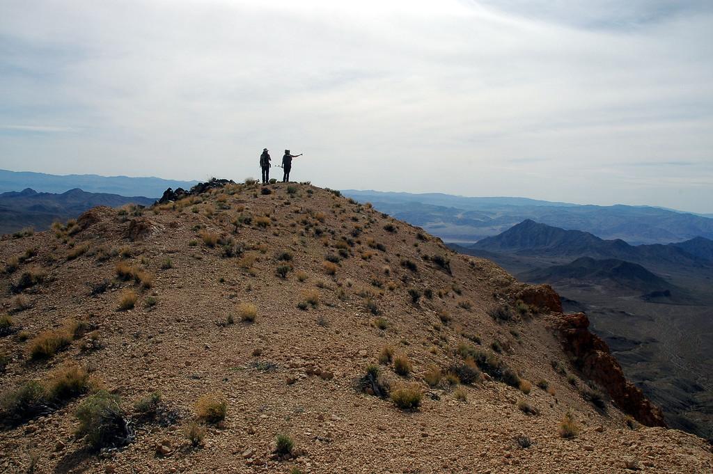 Rachel and Sooz on Salsberry Peak.