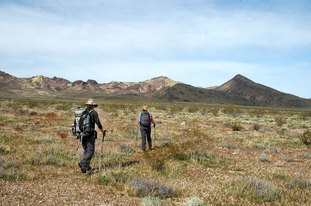 The first part of the hike was across flat desert.