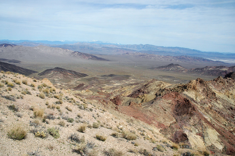 Looking east into Nevada in the distance.