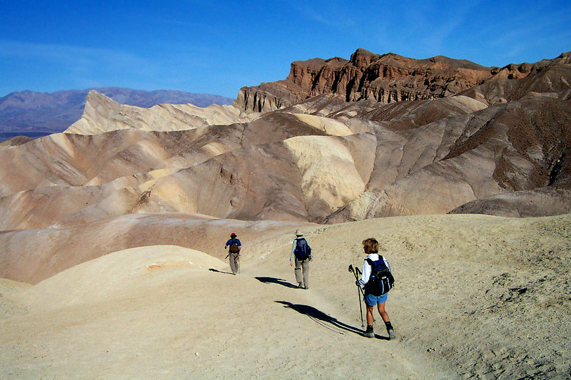 Heading off to Manly. The colors here make this one of my favorite areas of Death Valley. The brown formation of the right is Red Cathedral