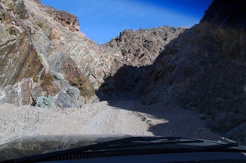 At the entrance to Goler Wash.