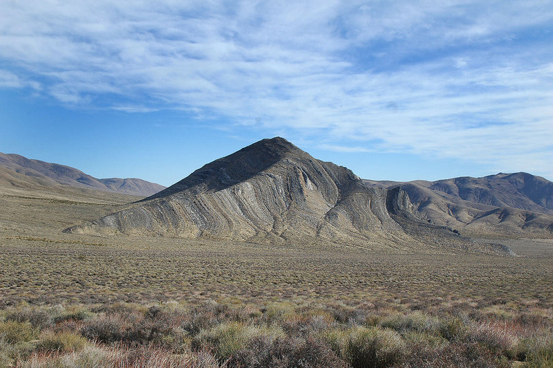 The south side of Striped Butte. We'll be hiking up the west ridge.