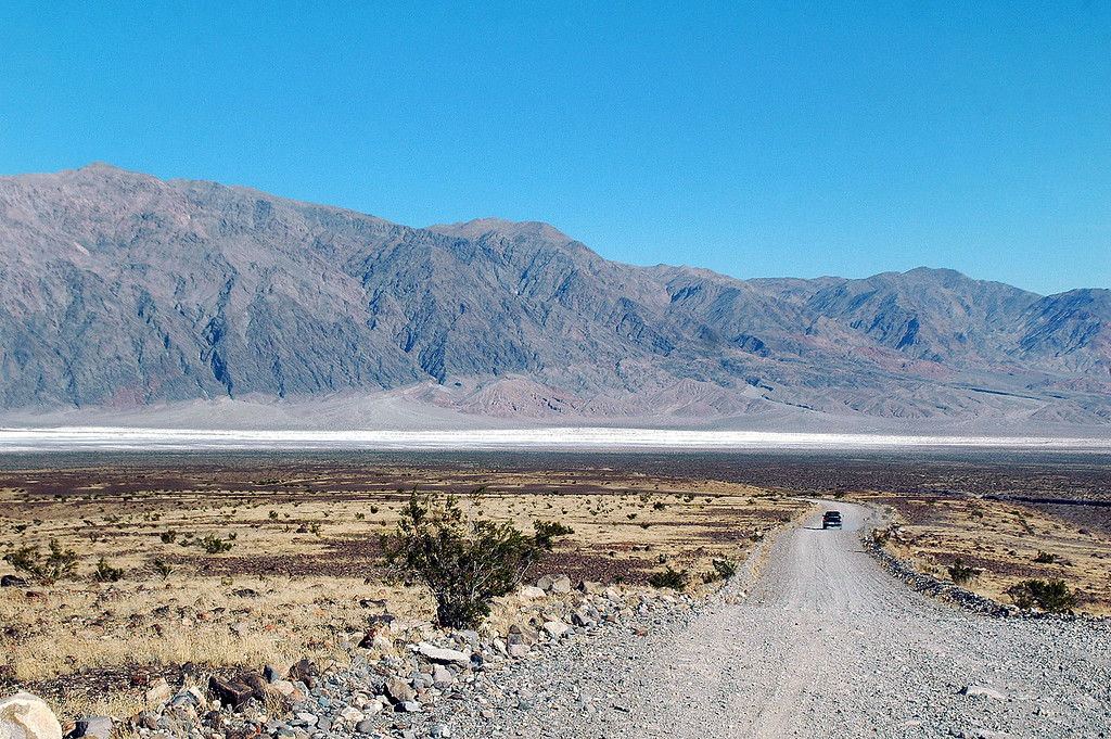 When we came out of the canyon, Death Valley came into view. I love this place.