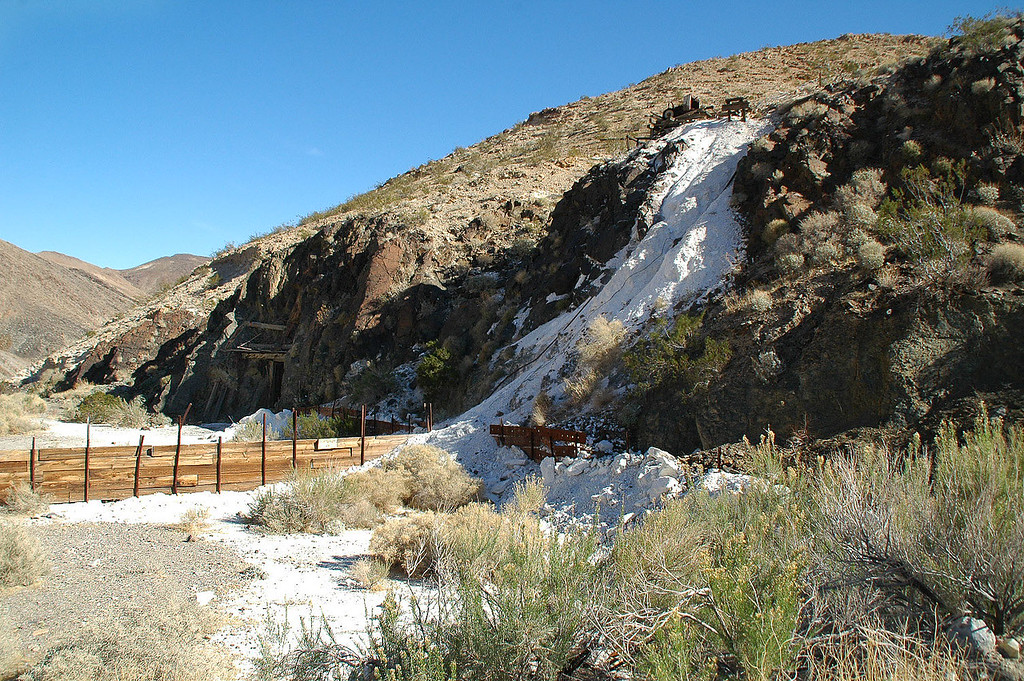 One of the eleven talc mines that made up the Warm Springs Mines.