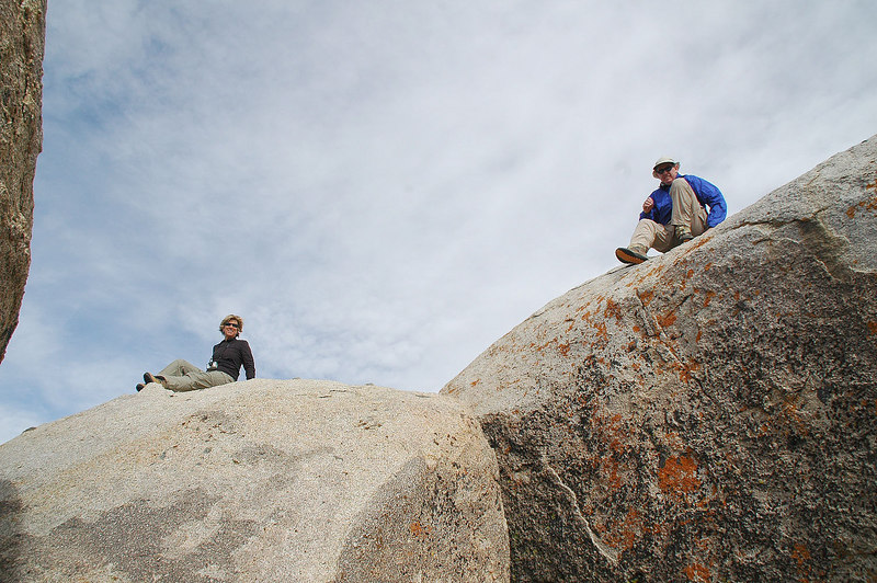 John is on the summit block at 7,115'.