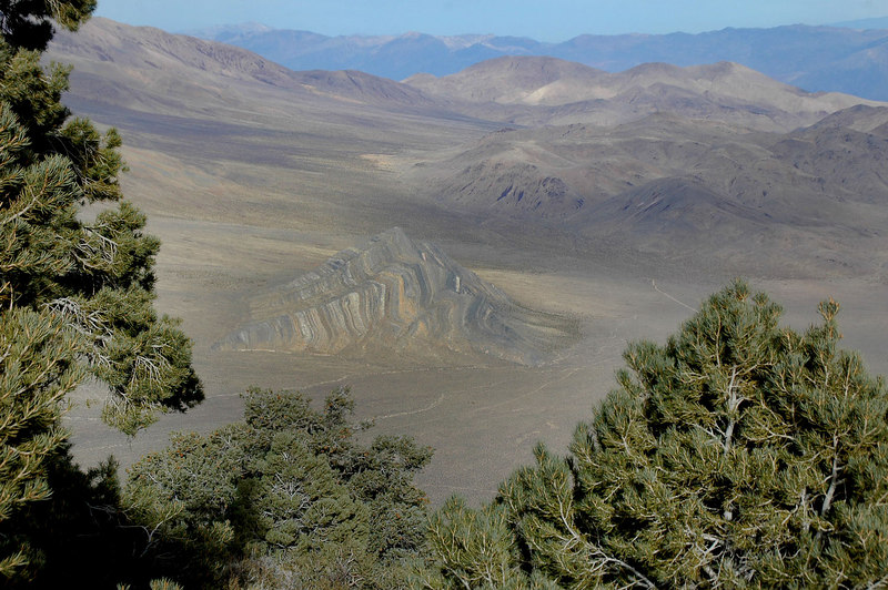 Zoomed in on Striped Butte.
