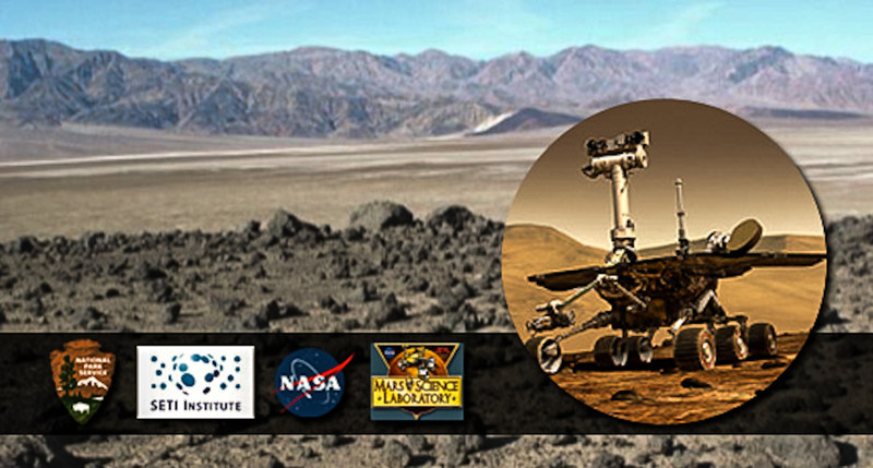 "<a href=""http://www.seti.org/mars-mojave-festival-2012""target=""_blank"">Mars and the Mojave Festival</a>, March 9 -11, 2012.    Featuring scientist and National Park Service interpreter guided field trips to analog sites, evening keynote speakers and panels, star-gazing, and an expo including mini-rover demonstrations and a 1/10th-scale model of the Mars Science Laboratory (MSL) Curiosity Rover.  Co-sponsored by NASA Ames Research Center, the Death Valley National Park, the SAM Team at NASA Goddard, and the SETI Institute.  Lucinda Land, Executive Director of the Mars Society, will be in attendance on behalf of the organization. <a href=""http://www.nasa.gov/centers/ames/events/2012/03-09-2012_mars-and-the-mojave.html""target=""_blank"">NASA festival information</a>  Program photo credits for this photo - Steve Hall, Mars Hill and NASA. <a href=""http://www.nps.gov/deva/upload/MarsMojave.pdf""target=""_blank"">NPS festival information</a>"