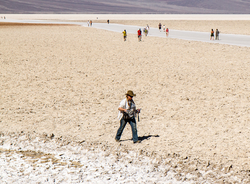 Field trip to Mars analog site of Badwater with Dr. Susanne Douglas.