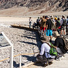Field trip to Mars analog site of Badwater with Dr. Susanne Douglas, (far left).
