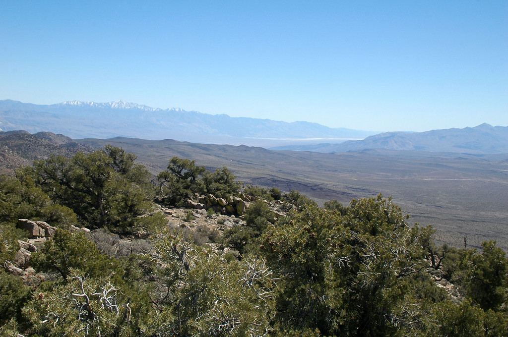 View to the southeast with Telescope Peak in the distance.