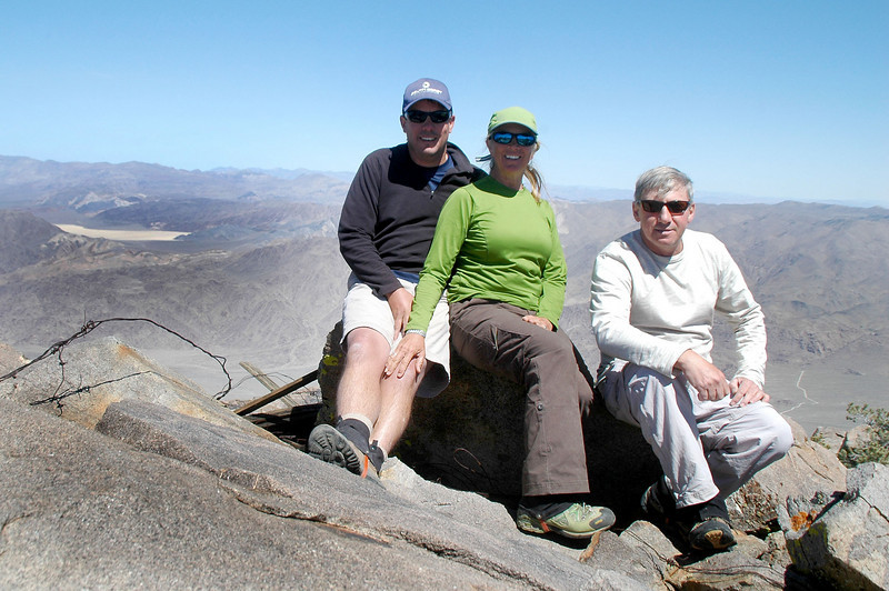 Chip, Sooz and me on Nelson Mountain at 7,696 feet.