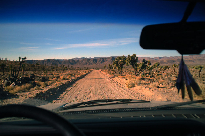 Driving through the joshua forest at Lee Flat. Great trip, it was fun hiking with folks I havn't seen for a while. <br /> <br /> <br /> THE END