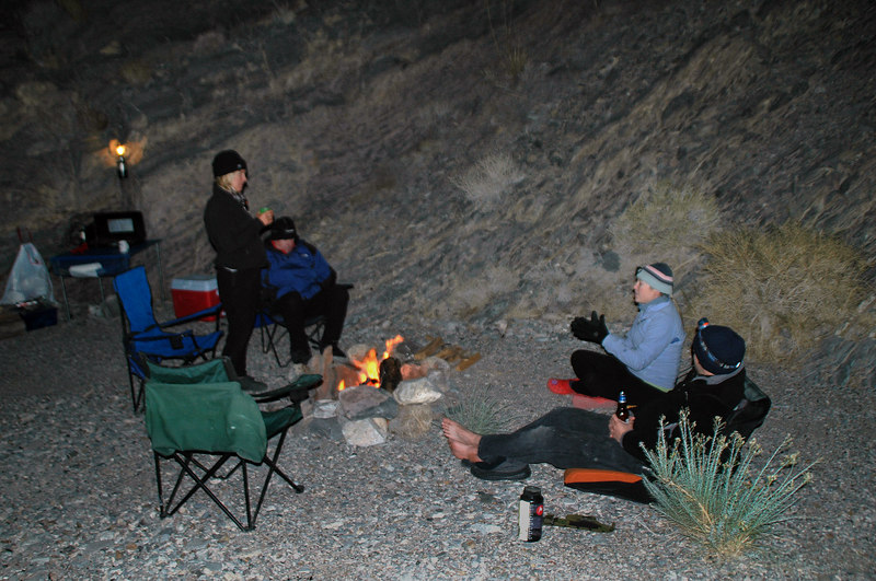 Back at camp. John and Sooz were there when I returned from the mine. Dave and Rebecca showed up just after dark.