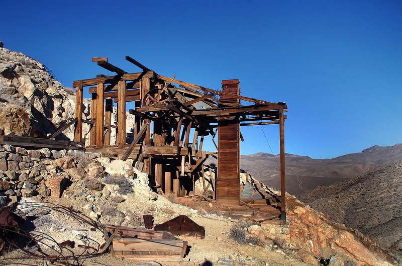 The remains of the mill at the Lost Burro Mine.