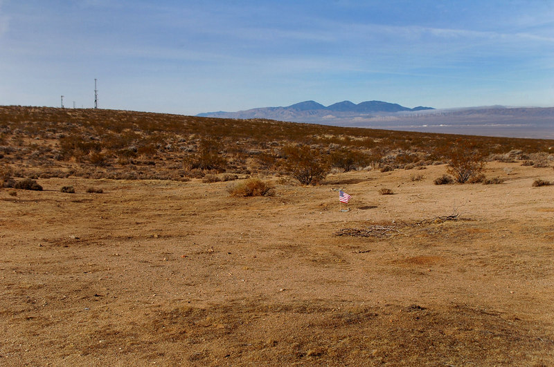 On the way to Death Valley, we stopped at the crash site of the Northrop YB-49 Flying Wing #42-102368, ten miles east of Mojave.