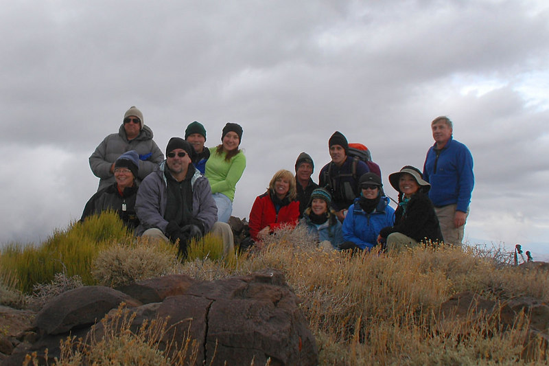 Group shot on Pinto Peak at 7,508 feet.