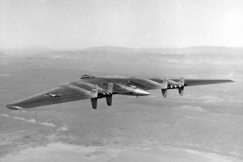 A photo of one of the YB-49 Flying Wings. On to Death Valley.