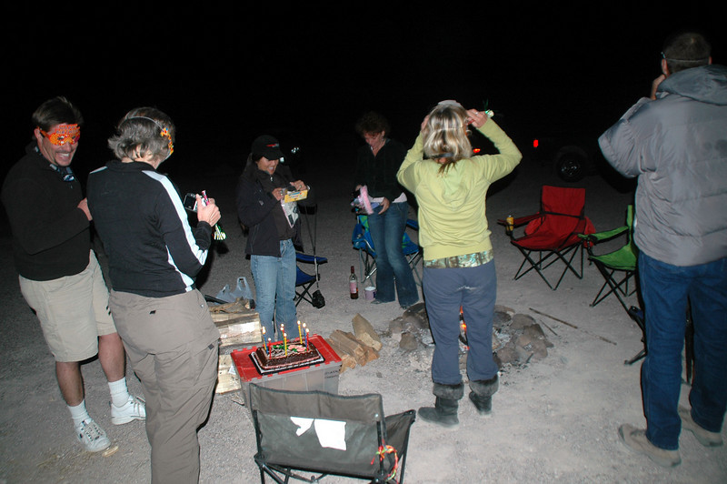 Back at camp, it was time to celebrate Cori, Kathy and TomB's birthdays.