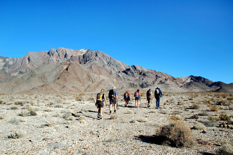 The first two miles of the hike was up the alluvial fan to the base of the mountain.