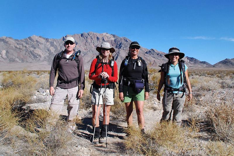 Joe(me), Norma, Sooz and Cori at the start of the hike at 3000 feet.