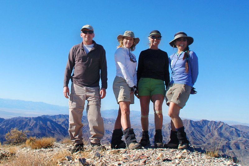 Me, Norma, Sooz and Cori on the summit of Pyramid Peak at 6,703 feet.