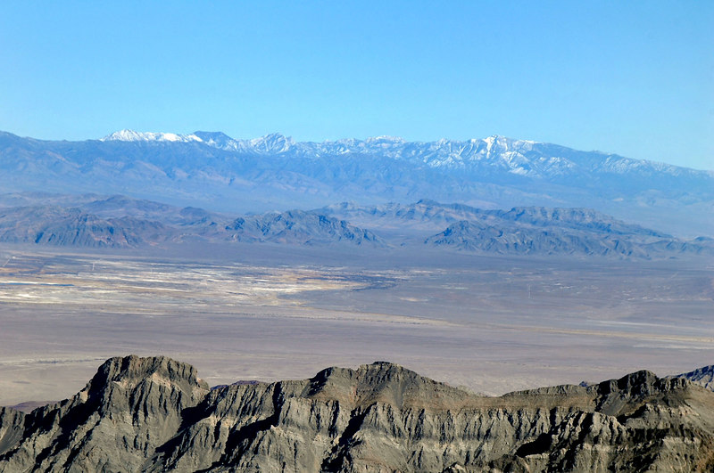 Zoomed in on the Spring Mountains.