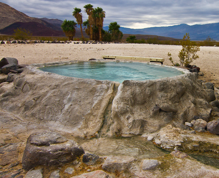 Hot water tub at Palm Spring.