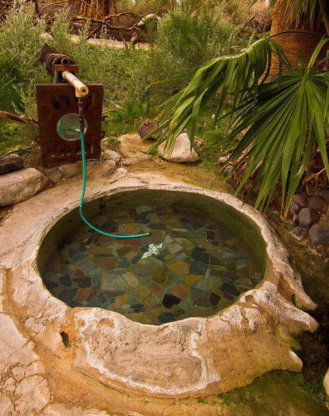 Hot water tub at Lower Warm Spring