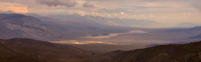 Stormy view of Panamint Valley from South Pass