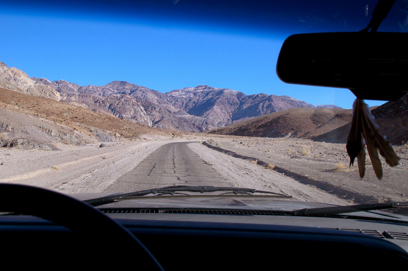 Driving on the Artists Palette Road to the Second Dip.