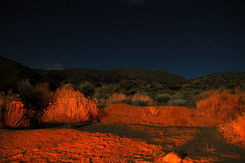 Had a tripod with me, so tried a few night shots by moon and fire light.