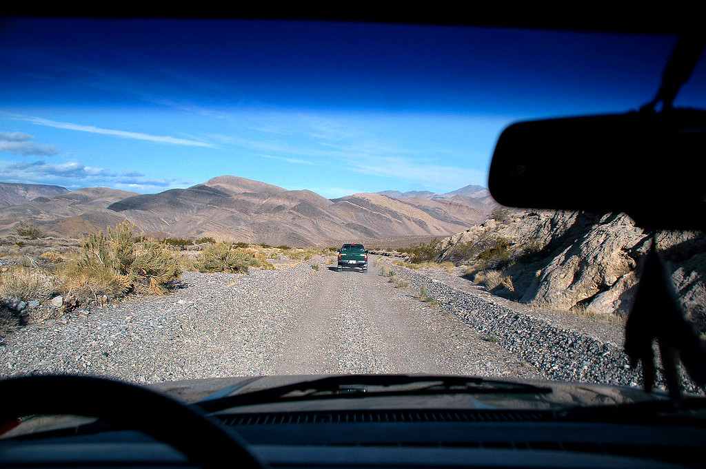 After breakfast, we headed back to the Racetrack Road for the drive to Ubehebe Peak.