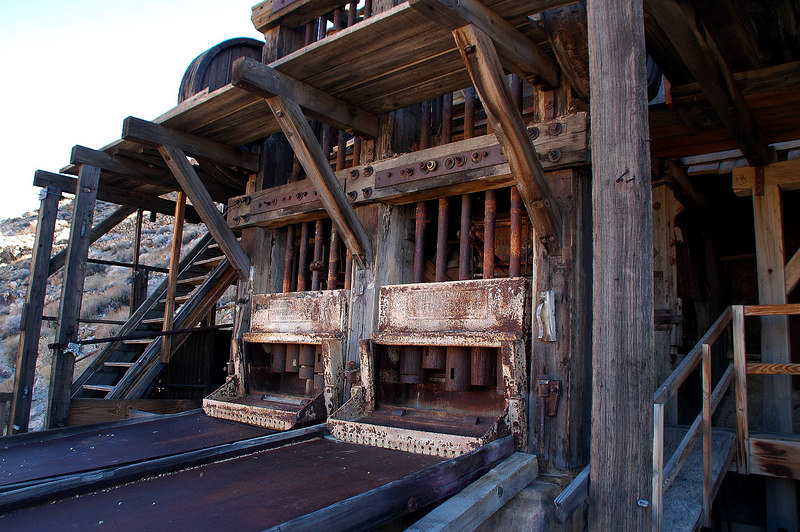 Two of the three stamp mills.