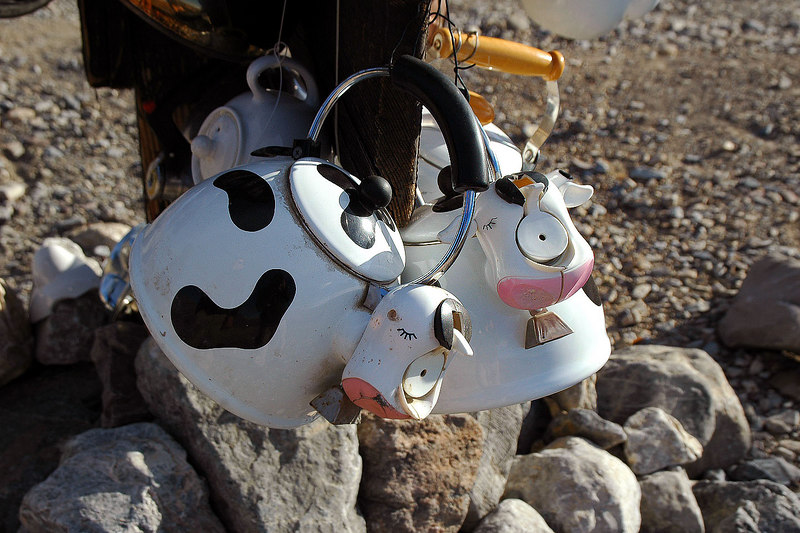 Moo Cow kettles.