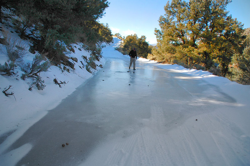 Turned out to be a section of ice. John was out there staking.