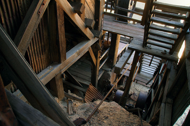 Looking into part of the mill.