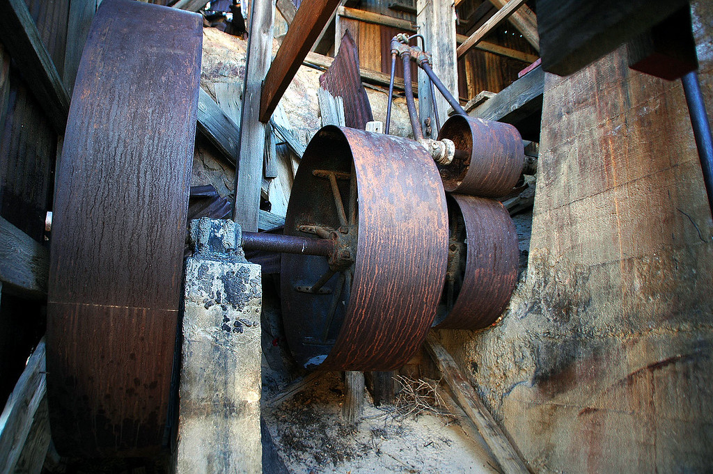 It was fun checking out the old rusty machinery. This mill was powered by water piped in from Birch Spring located more than 20 miles away below Telescope Peak.