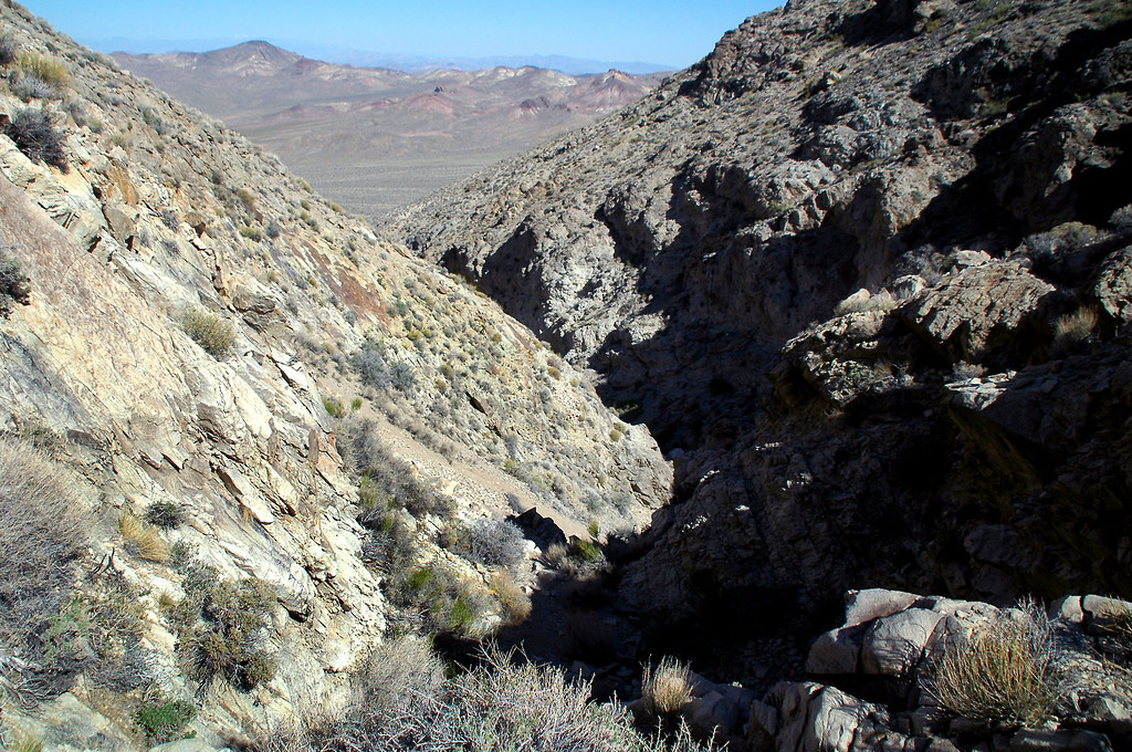 Approaching the steep section of the canyon.