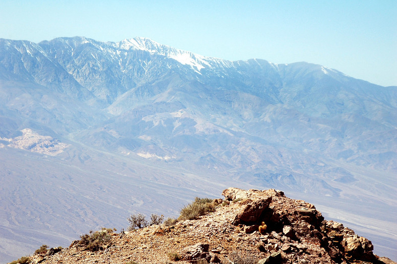 Zoomed in on Telescope Peak, at 11,049 feet, the highest point in Death Valley.