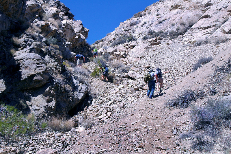 The group on the steep part.