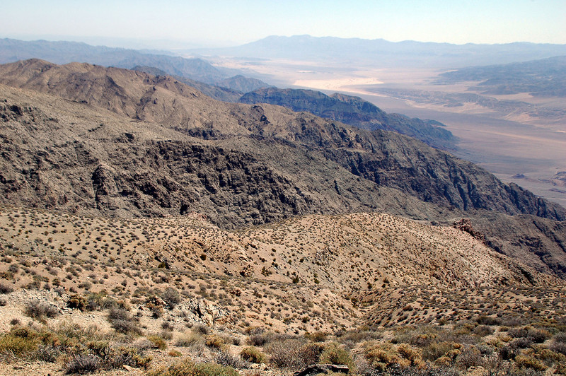"Looking to the south at ""The Narrows"" of Death Valley."