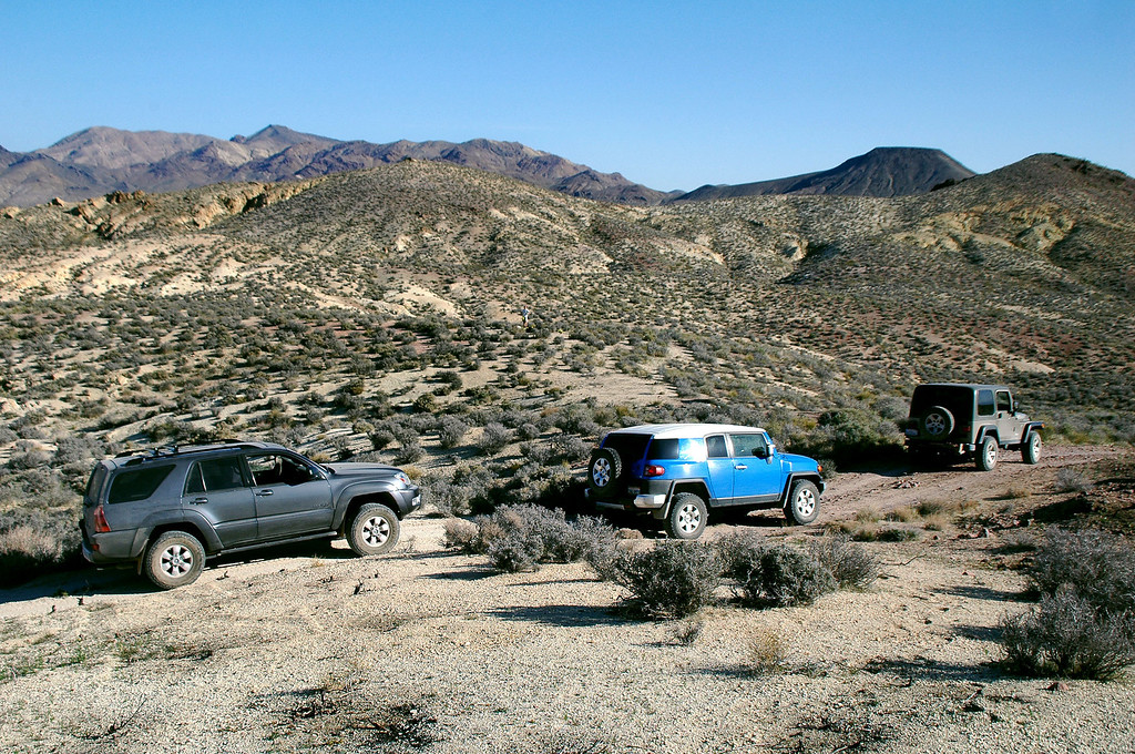 The rest of the vehicles in our group.