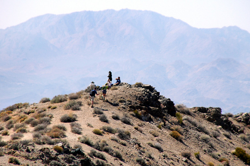 Zoomed in on Sooz and Chip as they reach the peak.
