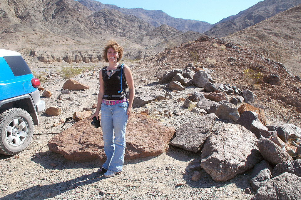Kathy was going to follow the road to the mine. Almost joined her, but it was a little warm for me and I wanted to get home early.