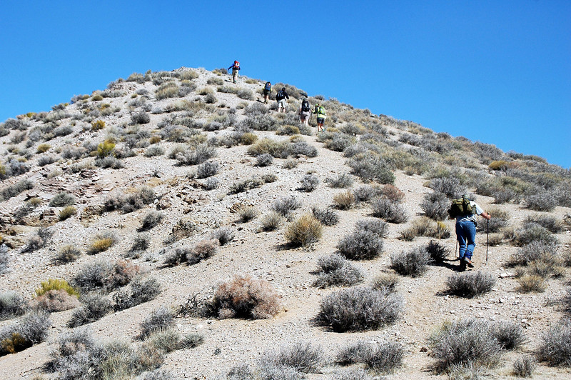 Hiking over the false summit.