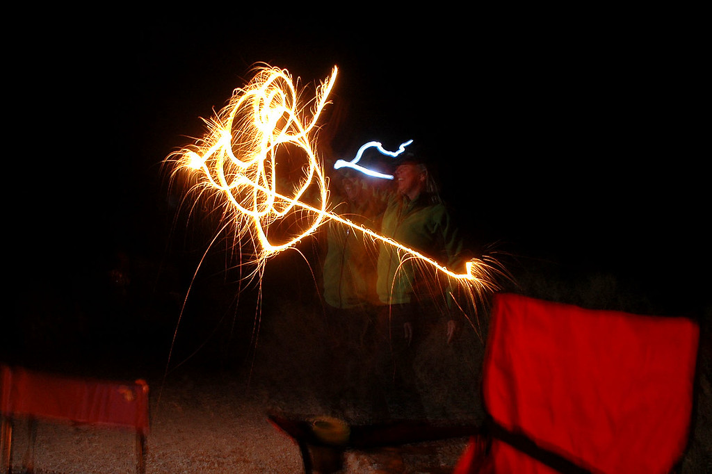 Sooz bought along some sparklers, this is her with one of them.