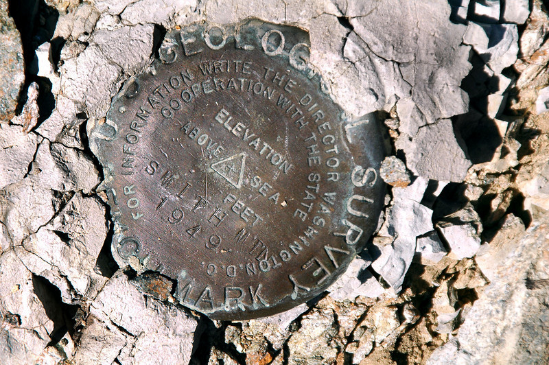 Smith Mountain marker. It's been about three months since I hiked a peak.